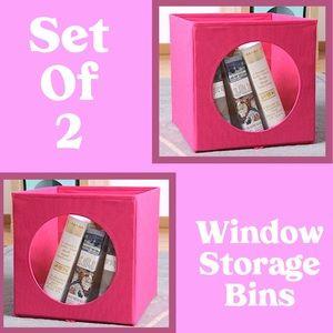 Mainstay Storage & Organization - Collapsible Window Storage Bins Fuchsia Burst NWT